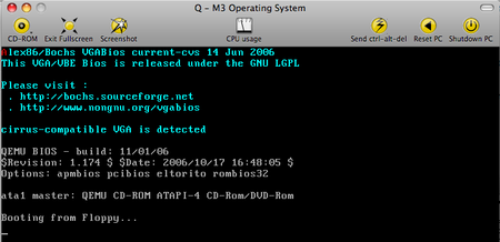 Q - Booting our VM from our Floppy Image!